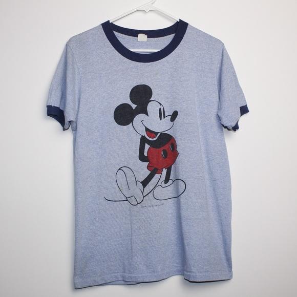 2b752502 Disney Shirts | Vintage Mickey Mouse Classic Ringer Tshirt | Poshmark